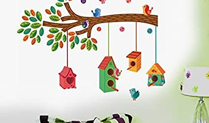 Decals Design ' Bird House on a Branch' Wall Sticker (PVC Vinyl, 50 cm x 70 cm) @Rs. 200