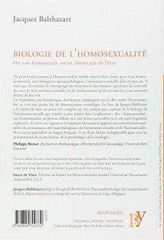 Livres Couvertures de Biologie de l'homosexualité : On naît homosexuel, on ne choisit pas de l'être
