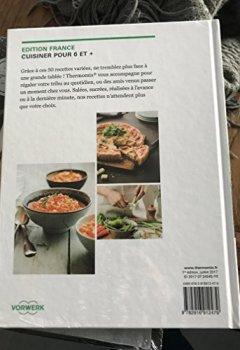 Livres Couvertures de Livre Thermomix Cuisiner pour 6 et + Plus Vorwerk