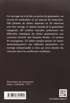 Livres Couvertures de Le Thème Espagnol Grammatical