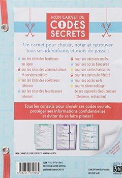Livres Couvertures de Carnet de codes secrets Mémoniak 2019