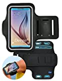 Deego Armband Case with Built-in Screen Protector & Key Holder for IPhone 6 Plus - Black