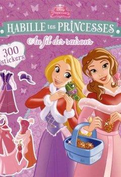 Livres Couvertures de Habille tes princesses, au fil des saisons : Avec 300 stickers