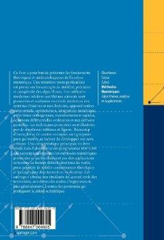 Livres Couvertures de Méthodes Numériques : Algorithmes, analyse et applications