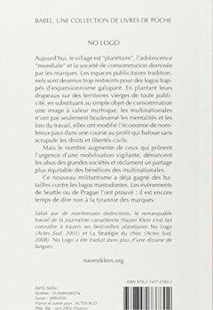 Livres Couvertures de No Logo. : La tyrannie des marques
