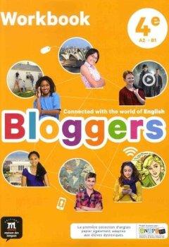 Livres Couvertures de Anglais 4e A2-B1 Bloggers : Workbook