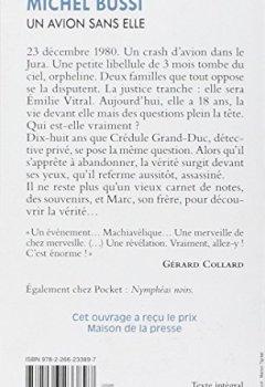 Livres Couvertures de Un avion sans elle - Prix Maison de la Presse 2012