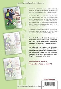 Livres Couvertures de Football - une Saison pour les U13 - Planification et séances