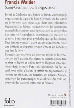 Livres Couvertures de Saint-Germain ou la Négociation