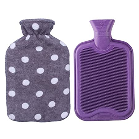 - This hot water bottle is manufactured to B.S.1970:2012 to ensure maximum safety. - It is made from natural rubber, some rubber smell is normal, just put it in a ventilated environment for few days, the smell will disappear. - The classic design o...
