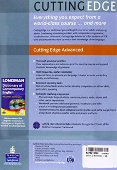 Livres Couvertures de Cutting Edge Advanced Students Book and CD-Rom Pack