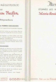 Livres Couvertures de Les meilleures recettes de Marie-Louise Becfin : 11 fiches - Les plats régionaux (périgourdine, tourangelle, parisienne, bressanne, provençale, alsacienne, lorraine, gasconne, bretonne, normande, languedocienne)