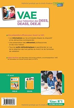 Livres Couvertures de VAE pour l'obtention des DEES, DEASS, DEEJE - Préparation complète pour réussir sa formation - Éducateur spécialisé, Assistant de service social, Éducateur de jeunes enfants
