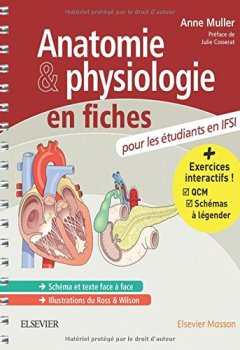 Livres Couvertures de Anatomie et physiologie en fiches pour les étudiants en IFSI: Avec un site Internet d'entraînements interactifs