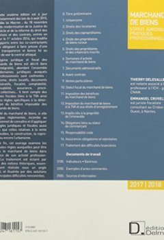 Livres Couvertures de Marchand de biens : Statut juridique, pratiques professionnelles