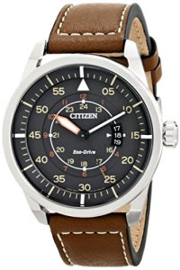 Citizen-Eco-Drive-Mens-AW1361-10H-Sport-Stainless-Steel-Watch-with-Brown-Leather-Band