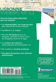 Livres Couvertures de Guide Vert Week-End Lisbonne Michelin