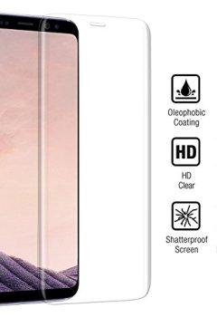 Livres Couvertures de Protection écran Samsung galaxy S8, tronisky Protecteur d'écran Verre Trempé Galaxy S8 Couverture Complète 9H Ultra Définition Anti-scratch Film Protection d'écran Galaxy S8