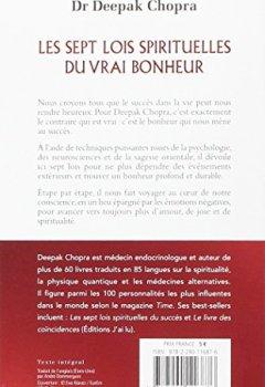 Livres Couvertures de Les sept lois spirituelles du vrai bonheur : Simplifier sa vie et voir le monde en soi : Le chemin vers l'illumination