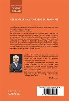 Livres Couvertures de Les mots les plus anciens du Français