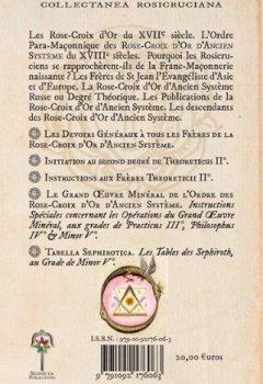 Livres Couvertures de Initiations, Instructions et Pratiques Alchimiques  des Rose-Croix d Or d Ancien Systeme.