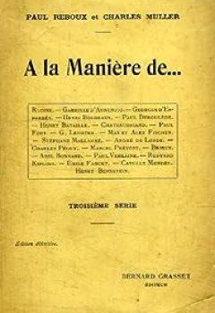 Livres Couvertures de A la maniere de. troisieme serie