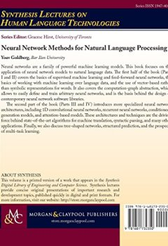 Livres Couvertures de Neural Network Methods in Natural Language Processing