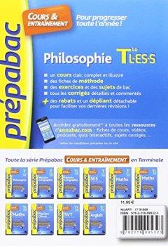 Livres Couvertures de Philosophie Tle L, ES, S - Prépabac Cours & entraînement: cours, méthodes et exercices de type bac (terminale)
