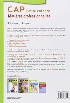 Livres Couvertures de CAP Petite enfance Matières professionnelles 3ed