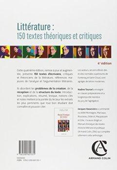 Livres Couvertures de Littérature : 150 textes théoriques et critiques
