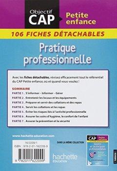 Livres Couvertures de Fiches CAP Petite Enfance Pratique professionnelle