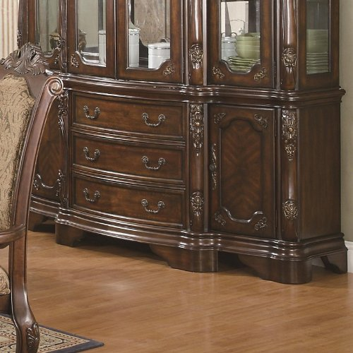 Image of Buffet with Carved Detail in Brown Cherry Finish (VF_AZ00-84675x38199)
