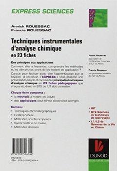 Livres Couvertures de Techniques instrumentales d'analyse chimique - en 23 fiches