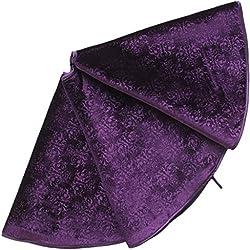 "SORRENTO Micro Fleece Purple Design Soft Christmas Tree Skirt Emboss Skirt 50"""