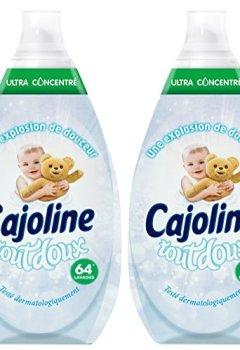 Livres Couvertures de Cajoline Adoucissant Concentré Intense Tout Doux 960ml 64 lavages - Lot de 2