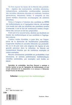 Livres Couvertures de Probabilités : Tome 1, Licence - CAPES