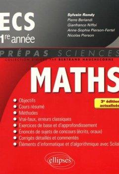 Livres Couvertures de Mathématiques ECS 1re année - 3e édition actualisée