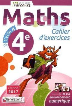 Livres Couvertures de Cahier d'Exercices Iparcours Maths Cycle 4 - 4e (2017)