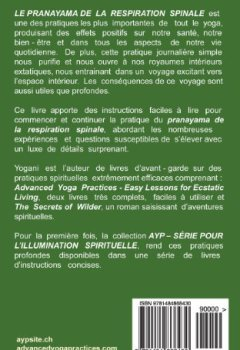 Livres Couvertures de LE PRANAYAMA DE LA RESPIRATION SPINALE - Un voyage vers l'espace intérieur