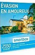 SMARTBOX - Évasion en amoureux - Coffret cadeau romantique - À choisir parmi 2550 séjours : maisons d'hôtes, hôtels de charme, auberges et domaines. Offrez un moment d'évasion d'une nuit avec petit-déjeuner pour 2 personnes