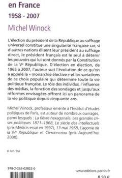 Livres Couvertures de L'élection présidentielle en France