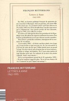 Livres Couvertures de Lettres à Anne: (1962-1995)