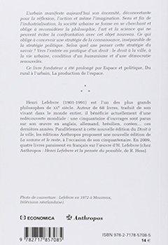 Livres Couvertures de Le droit à la ville