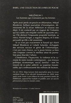 Livres Couvertures de Millénium, Tome 1 : Les hommes qui n'aimaient pas les femmes