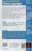 Livres Couvertures de Les cours de Paul Arnaud - Cours de Chimie organique - 19e édition: Cours avec 350 questions et exercices corrigés