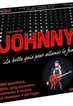 Livres Couvertures de Coffret quiz Johnny Hallyday: La boîte de jeu qui va allumer le feu !