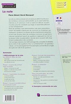Livres Couvertures de La Note : La note de synthèse, la note administrative, la note avec propositions