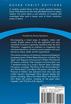 Livres Couvertures de English Romantic Poetry: An Anthology