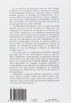 Livres Couvertures de Les Demeures philosophales et le symbolisme hermétique dans ses rapports avec l'art sacré et l'ésotérisme du grand oeuvre - 2 volumes