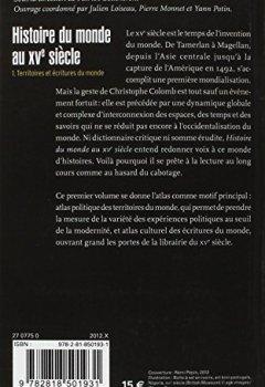 Livres Couvertures de Histoire du monde au XVe siècle, tome 1: Territoires et écritures du monde